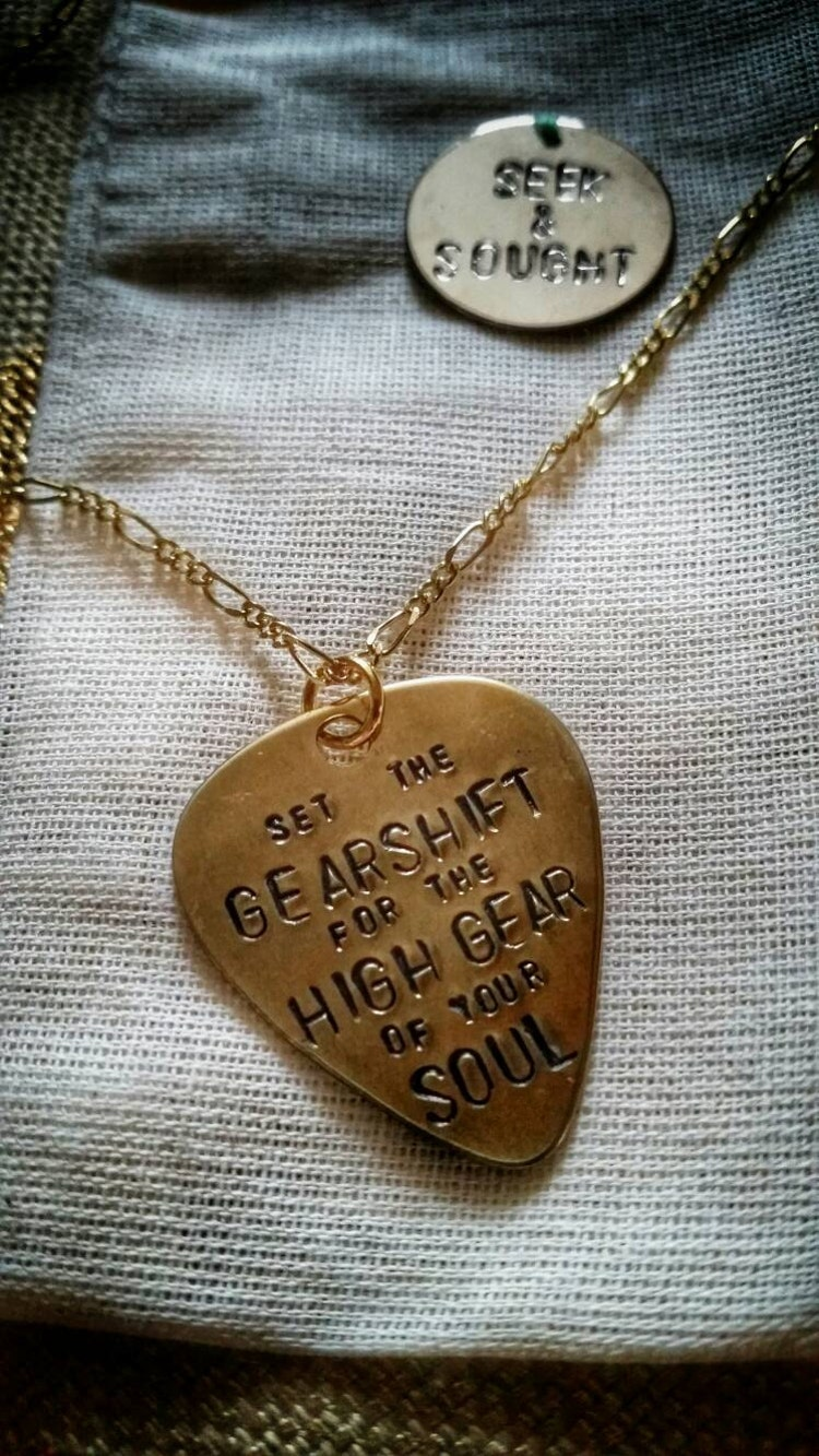 Phish Antelope Guitar Pick Necklace Gold By Seekandsought On Etsy
