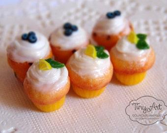 Dollhouse miniature muffins 1:12 scale