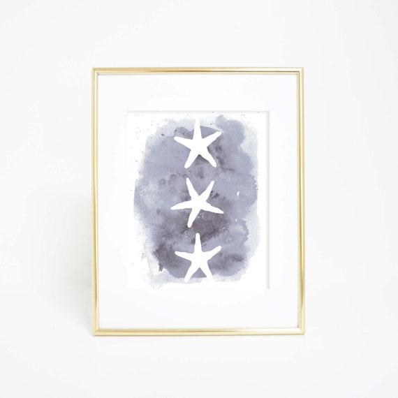 Printable Art, Beach Decor, Art Prints for Kids, Starfish Art, Starfish Print, Digital Print, Starfish Wall Art, Nursery Print, Wall Decor