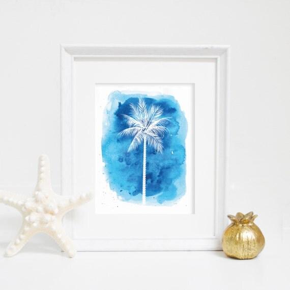 Palm Art, Palm Tree Print, Watercolor Print, Palm Tree Art, Palm Print, Digital Wall Print, Beach Art Print, Nursery Art, Nursery Decor