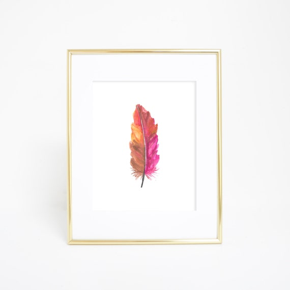 Printable Feather, Watercolor Feather, Feather Print, Feather Wall Art, Printable Wall Art, Watercolor Print, Digital Prints, Downloads