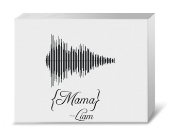Baby's Voice First Word or Name Waveform Gallery Canvas