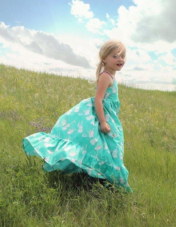 Bella's Dress & Maxi. PDF sewing pattern for toddler girl sizes 2t - 12.