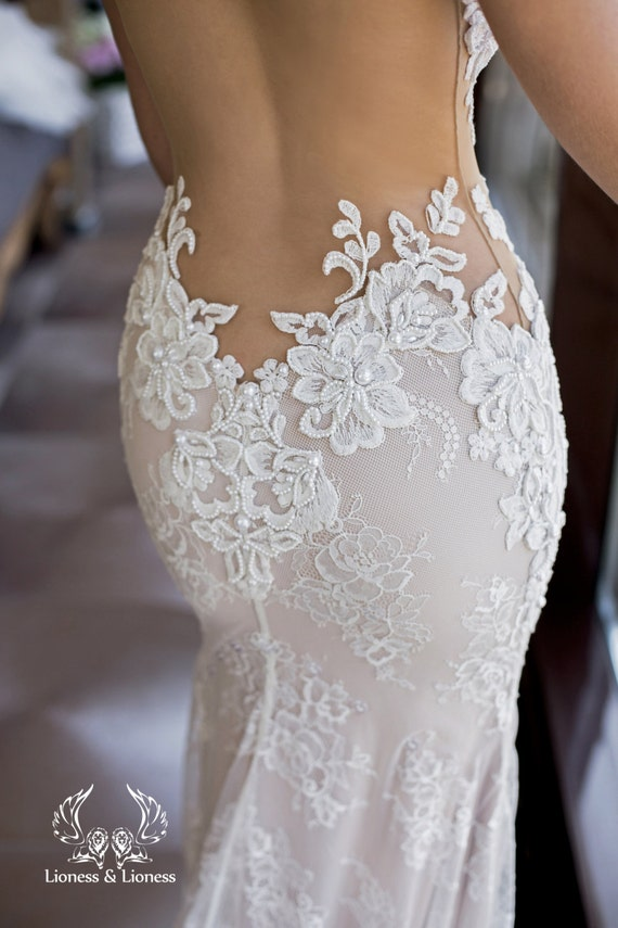 Wedding dress, lace wedding dress, unique wedding dress, sexy wedding dres