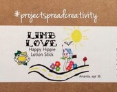 Limb Love Lotion Stick - Happy Hippie - Handcrafted with Organic Ingredients by The Crafty Lemon!!