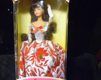 Reserved Mattel Evening Flame Barbie Doll vintage Special Edition 1st Brunette Sears Exclusive New in box