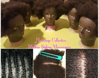 """Hairitage Collection Afro 4c Textured Cosmetology Mannequin- """"Malkia"""""""