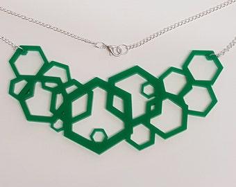 Geometric Hexagon Necklace - Acrylic
