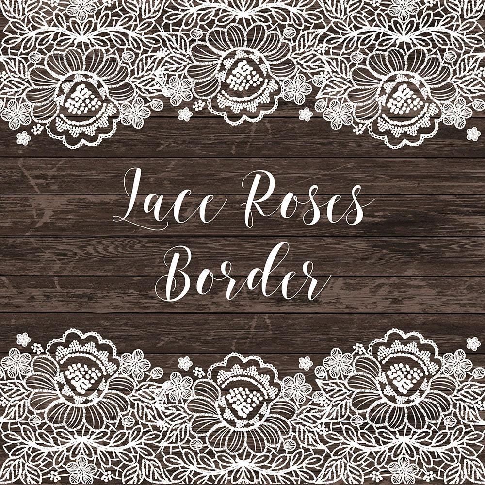 Wedding Invitation Borders Clip Art: Lace Border Rustic Wedding Invitation Border Frame Lace