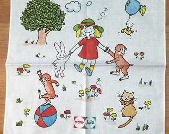 Vintage child's handkerchief from Japan