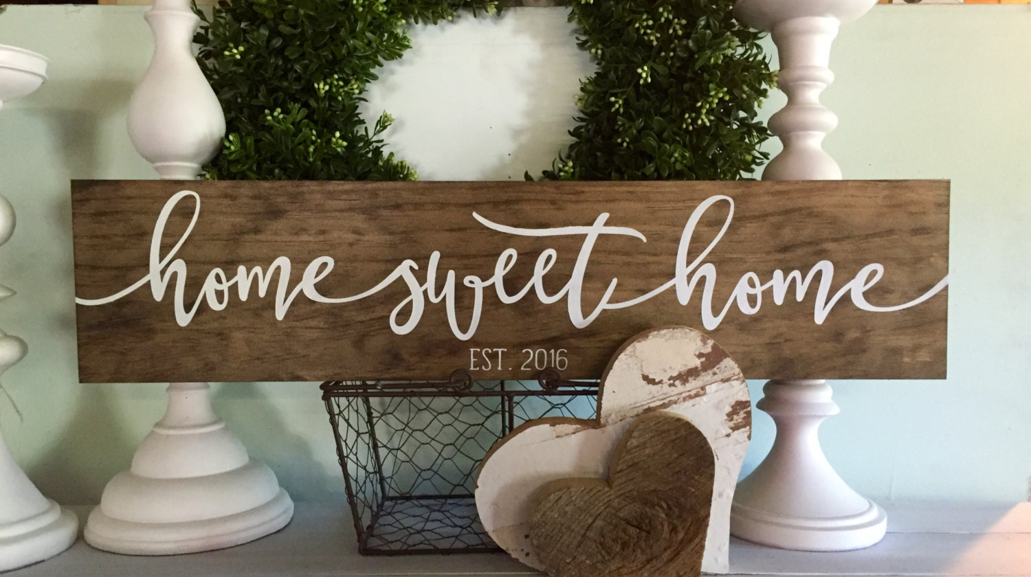 Home sweet home sign home sweet home home sweet home wood for Home sweet home arredamento