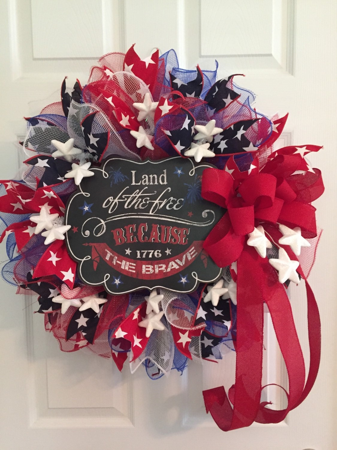 Patriotic Wreath Fourth Of July Wreath Memorial Day Wreath