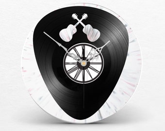 Disc two layers black & color clock to choose / / picks / / guitar / / Fan