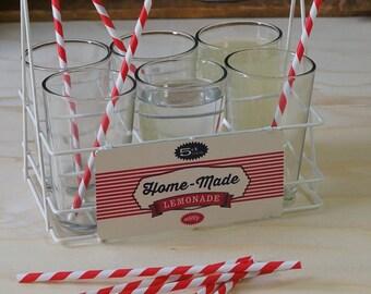 Retro 1950's Glasses & Basket