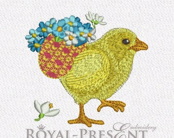 Machine Embroidery Design - Easter Chicken #4