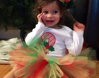 My 1st Christmas Tutu, My First Christmas Outfit, Christmas Tutu Set, Christmas Tutu Outfit, Candy Cane Tutu set, My First Christmas