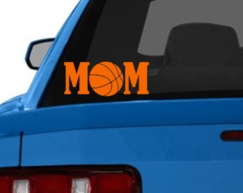 Basketball Mom Car Decal - Vinyl Car Decal - Car Decal - Basketball Car Sticker - Basketball Car Decal - Basketball Decal - Sports Car Decal