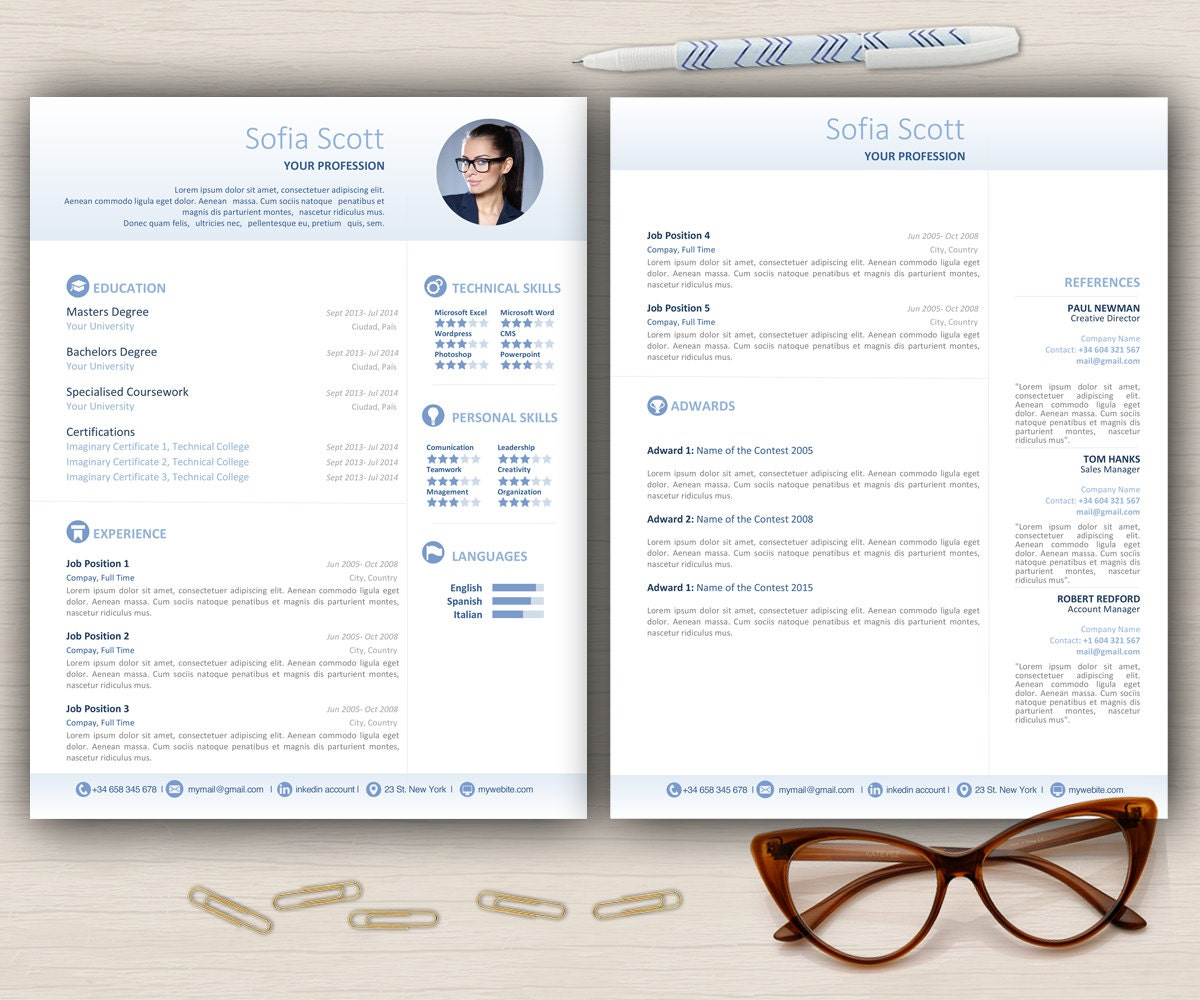 mod u00e8le de cv lettre de motivation 2 page par