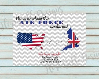 Military Moving Announcement // Printable // Download // DIY