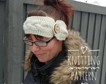 Knitting PATTERN - Spring Cables Headband, DIY, Digital Download