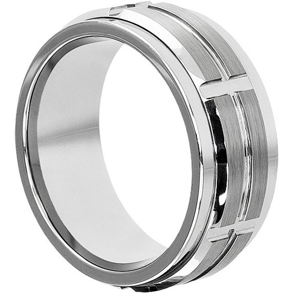 10mm tungsten spinner ring spinner style by tungstenringsfm. Black Bedroom Furniture Sets. Home Design Ideas