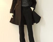 Séverin Black Frock Coat set for Dollshe 28M