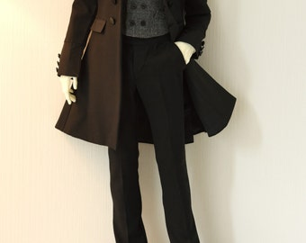 Séverin Black Frock Coat set for Dollshe 28M