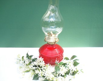 Vintage Red Flash Kerosene Lamp