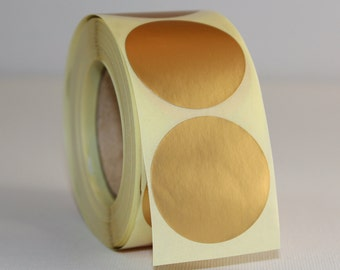 Lot of 20 self-adhesive labels - round - gold
