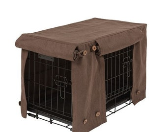 Washable crate covers in Turkish Coffee