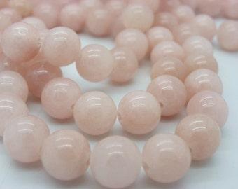 20 beads 10 mm pink jade