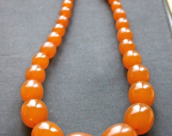 Chunky real Baltic amber vintage necklace 74 gram