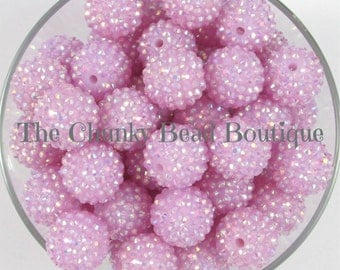 20mm lavender AB rhinestone bead