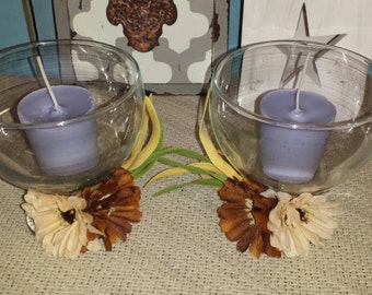 OOAK - Country Rustic Candle Holder Set