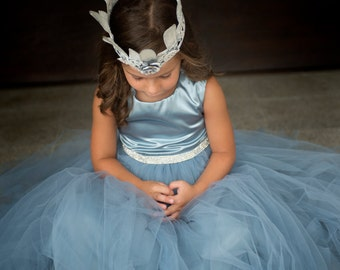flower girls tulle dress,Soft tulle dress,Girls Dress, Flower Girls CUSTOM sewn dress
