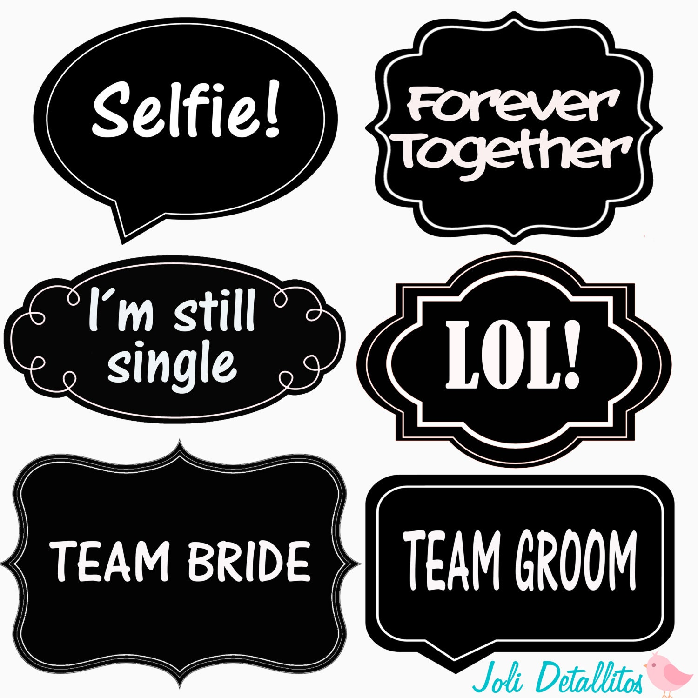 Wedding Props Word Bubble Photo Printable DIY