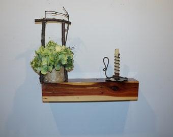 Floating Shelf, Floating Shelves, Hanging Shelf, Rustic Shelves, Wall Shelves, Cedar Shelf, Rustic Cedar Floating Shelf