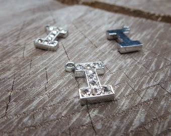 Letter I Pendant Charms ~1 pieces #100597