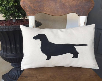 Throw Pillows/Dachshund/Dachshund pillow/Dachshund decor/Dog pillow/Dog decor