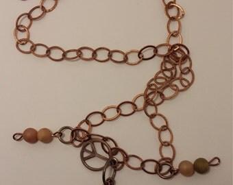 Peace and Faith Charm Necklace