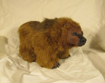 Grizzly bear semi poseable OOAK