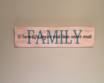Family--Where life begins and love never ends