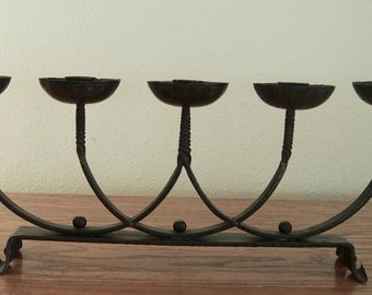 Wrought Iron Candle Stick Holder Hand-Forged by Artisian/Blacksmith