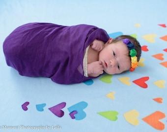 Rainbow baby headband - rainbow baby hair band - rainbow headband - infant loss - rainbow headband- photo props - rainbow hair band - infant