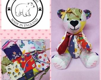 Memory bear,keepsake,christening,birthday,Christmas,newborn gifts