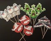 Ghostbusters  inspired cupcake toppers, ghostbusters inspired party theme