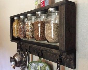 Mason Jar and Pot Rack