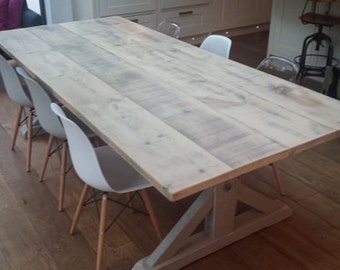 union driftwood dove grey dining table wooden dining table handmade