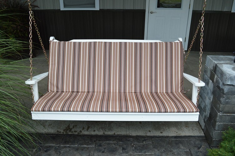 Seat & Back Cushion For 6 FOOT Swing Glider Or Bench 1