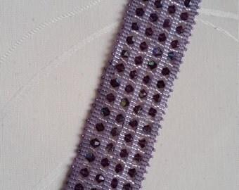 """bracelet """"ande"""" Swarovski crystal and amethyst delica miyuki"""